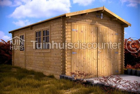 Houten garage Zuid-Holland 3,2x5,2m 44mm
